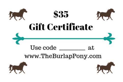 TBP Gift Cert 35 No code